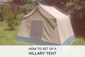 how to put up a hillary tent