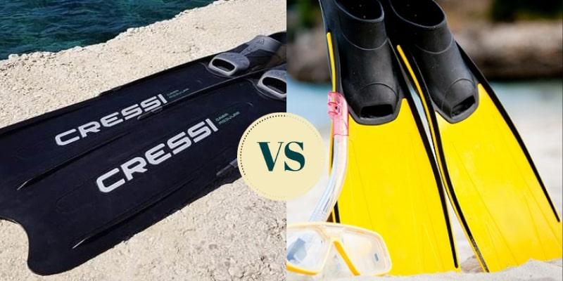 freediving fins vs scuba fins comparison
