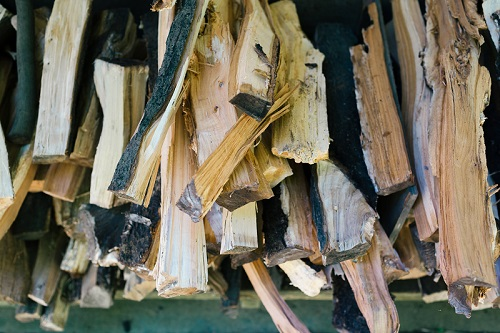 moisture on wood